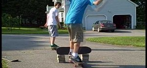 Do a hippie jump on a skateboard