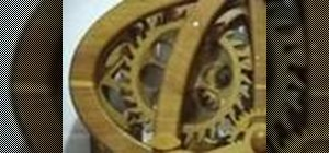 Make adjustments to a wooden clock