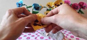 Fold realistic origami pansies for spring