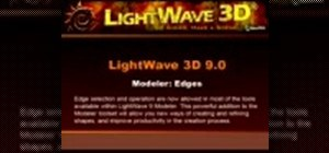 Select edges in the LightWave modeler