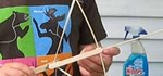 How to Make a mini crossbow easily