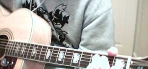 """Play """"The Drugs Don't Work"""" by The Verve on guitar"""