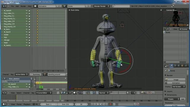 Generate and loop a basic walk cycle in Blender 2.5