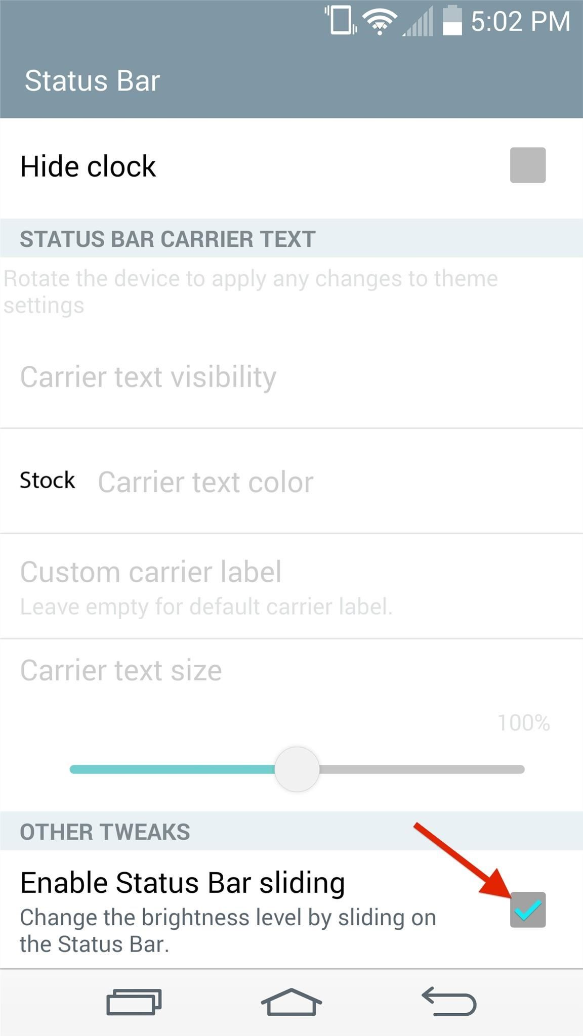 Turn Your G3's Status Bar into a Brightness Slider