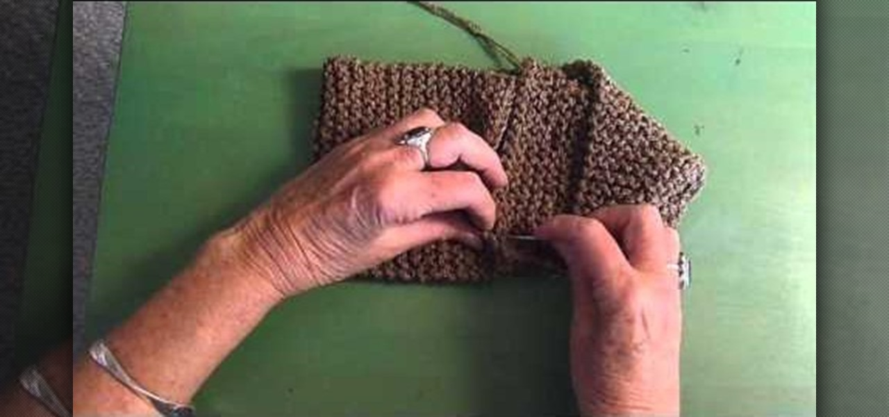 How To Knit A Simple Fake Moebius Scarf Knitting Crochet