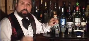 Pour absinthe in the French manner
