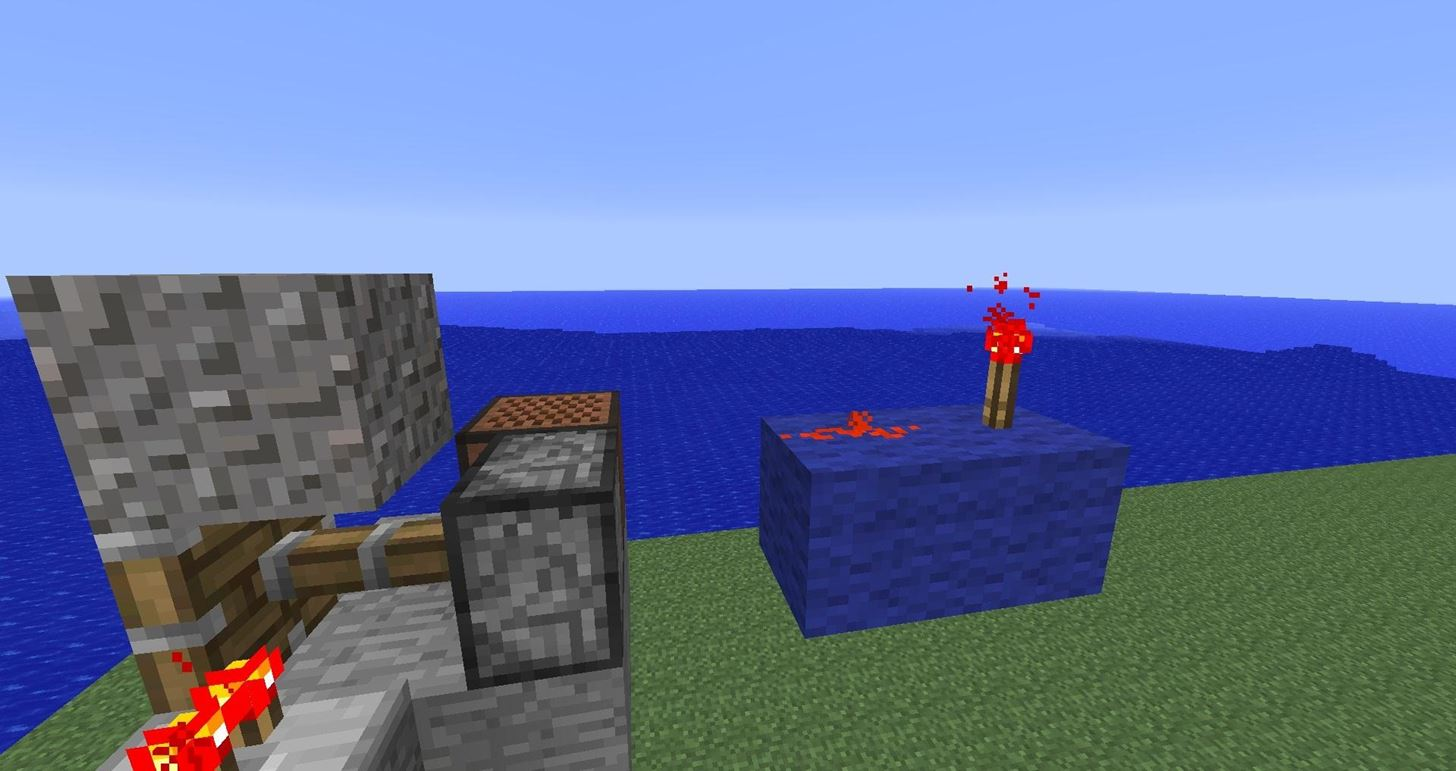 How to Make a Resource Friendly Floating Block Trap in Minecraft