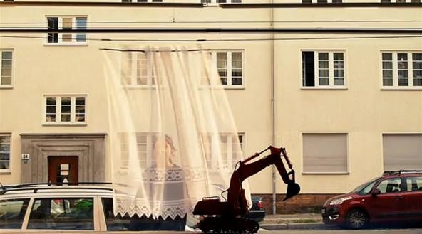Tiny Robotic Curtain Thwarts Would-Be Peeping Toms