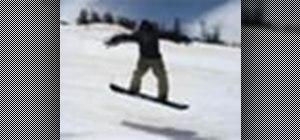 Perform a nollie on a snowboard
