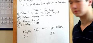 Balance chemical equations with MyTutorBuddy