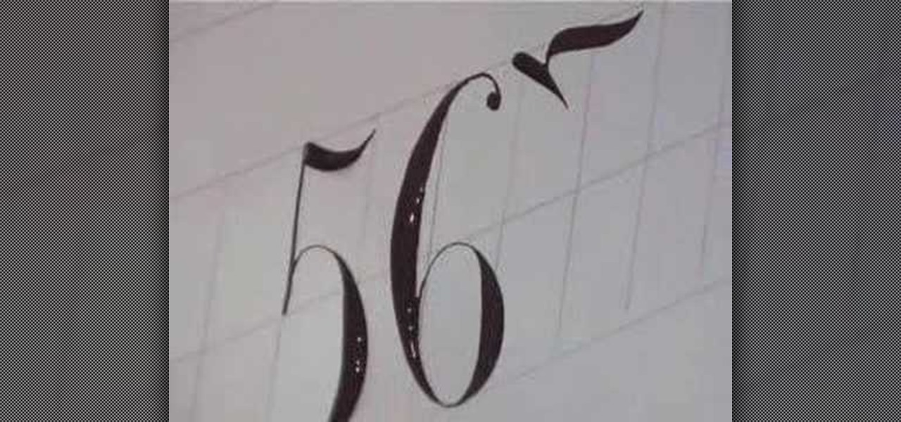 How To Write Numbers In Calligraphy Copperplate Drawing