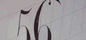 Write numbers in calligraphy copperplate