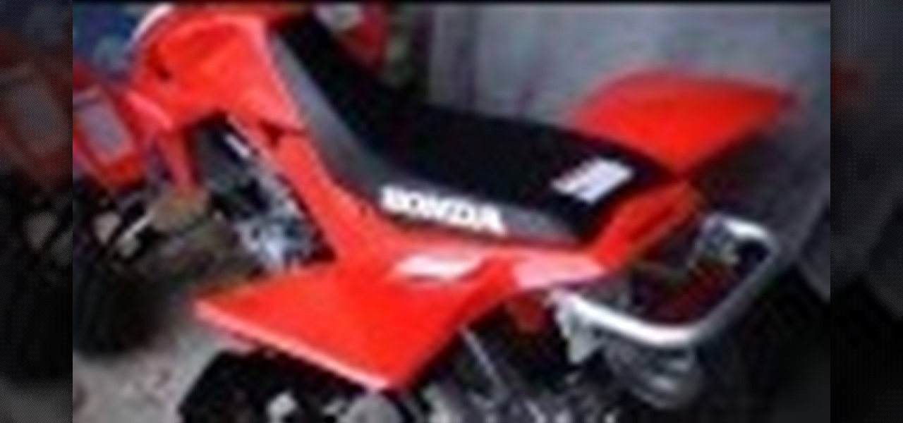 Remove the Seat on a Honda TRX 450R