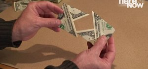 Make an origami wallet out of a dollar bill