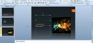 Create a presentation with slide transitions in PowerPoint 2010