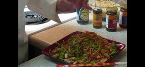 Make lo mein with chicken and beef