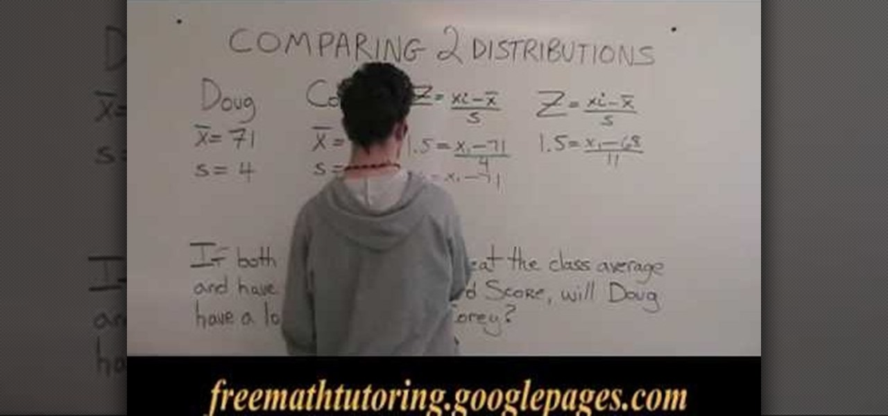 How to Compare 2 distributions with the Z-Score formula