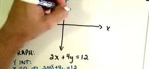 Graph linear functions by finding X & Y Intercept
