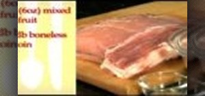 Make roasted pork stuffed with dried fruit using only three ingredients
