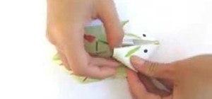 Origami a tiny bunny