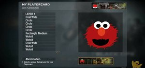 Create a custom Elmo playercard emblem in Call of Duty: Black Ops