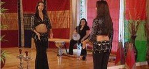 Do the horizontal figure-8 belly dance move