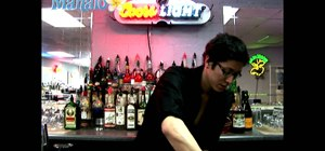 Mix an Adios cocktail when bartending