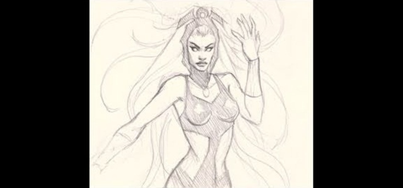How To Draw A Pencil Sketch Of Storm From The X Men Comic
