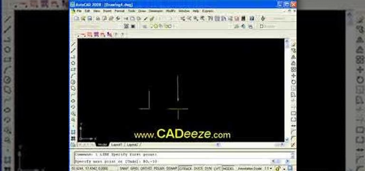 Drawing Lines In Dreamweaver : How to draw precise lines with coordinates in autocad