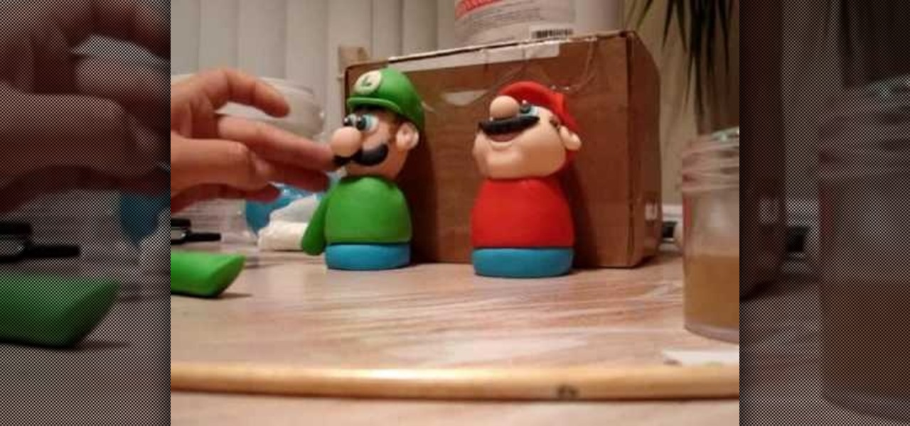 How to Make Mario Brothers gumpaste figurines for cake ...