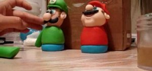 Make Mario Brothers gumpaste figurines for cake decorating