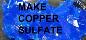 Make copper sulfate from copper and sulfuric acid