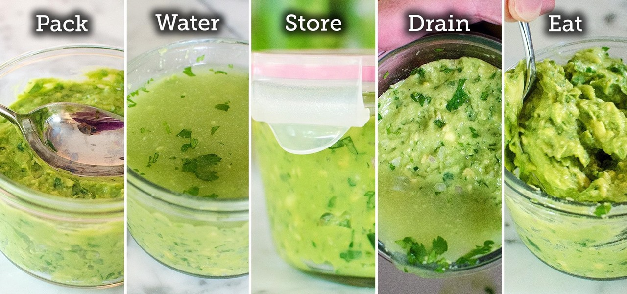 A Layer Of Water Stops Guacamole From