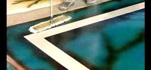 Use a micro-fiber mop to apply floor wax