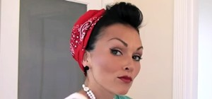 Style & Put Your Hair in a Bandana Retro Pin-Up Style