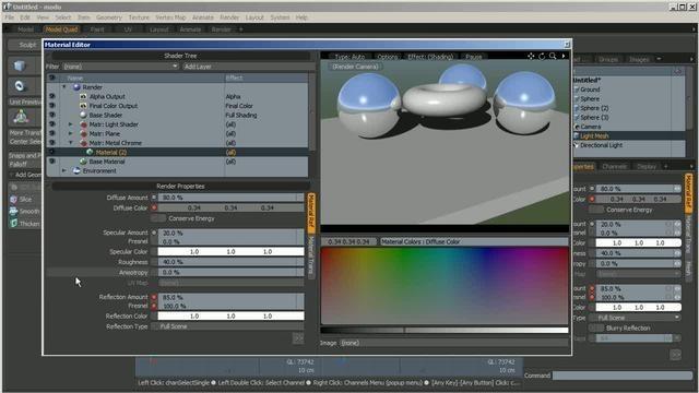 Create custom-shaped lights in modo