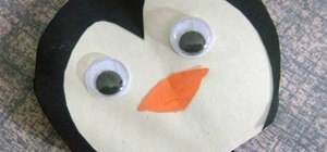 Make a simple paper penguin with your kids