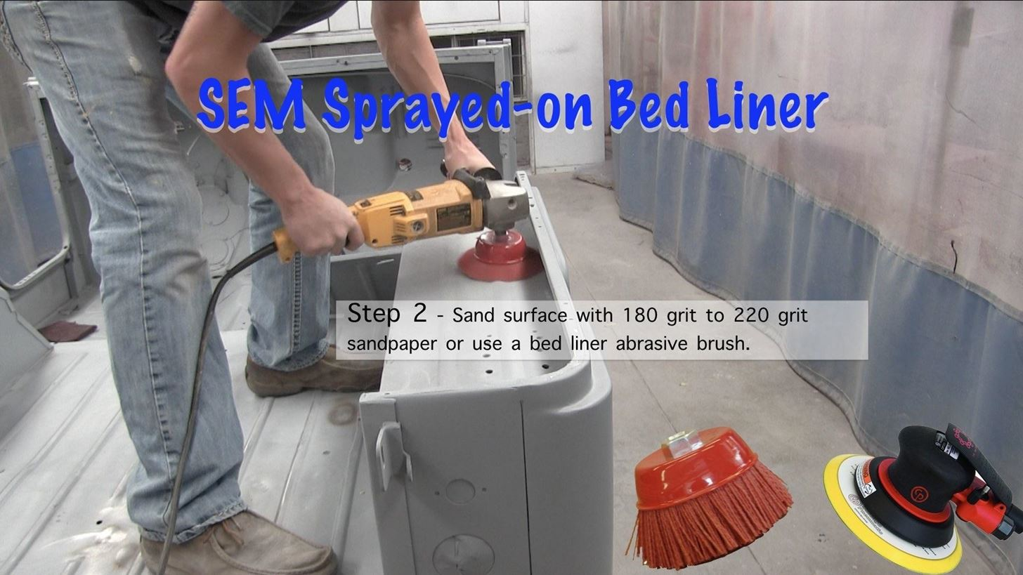 How to Apply Sprayed on Bedliner