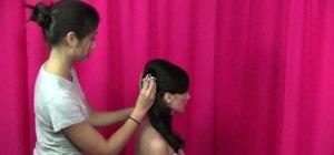Create three formal elegant wedding hairstyles