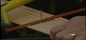 Remove finish nails from wood without damaging it