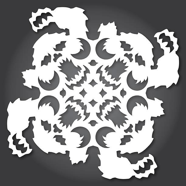 60 Free Paper Snowflake TemplatesStar Wars Style Christmas Mesmerizing Snowflake Cutting Patterns