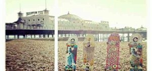 Skateboard Line Up on Brighton Beach...