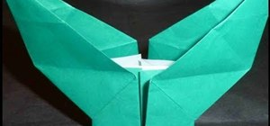 Fold a leaf base for origami flowers