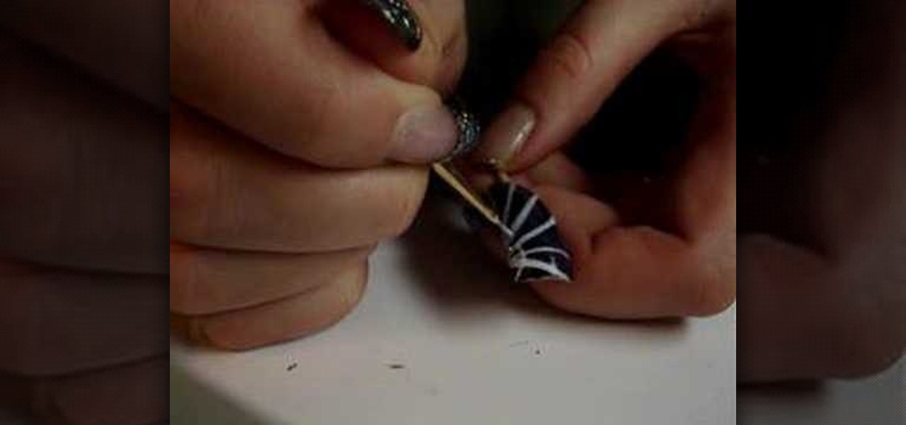 How to Paint your nails with a gothic spiderweb « Nails & Manicure ...