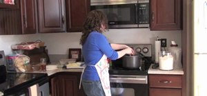 Make a basic white pasta sauce from scratch