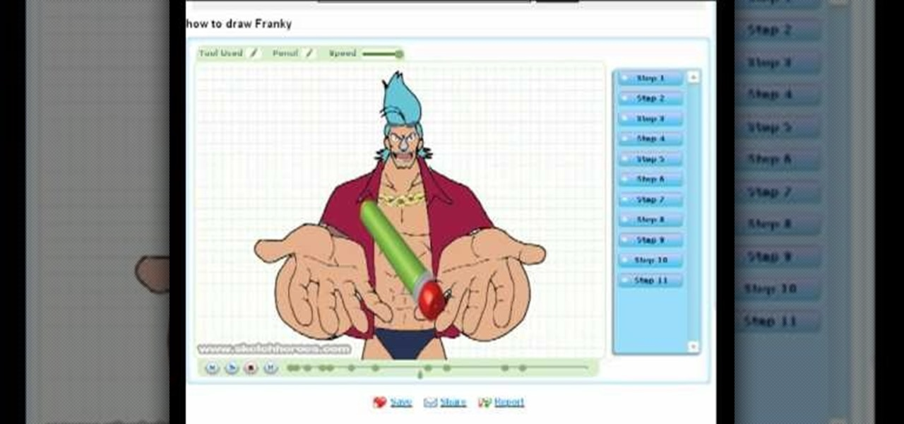 Draw Franky (One Piece)