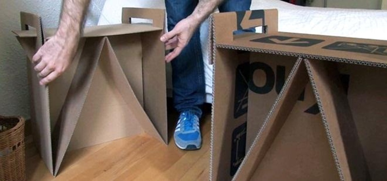 How To Turn Leftover Cardboard Boxes Into Sturdy Chairs And Stylish Nightstands