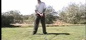 Hit with a driver in golf