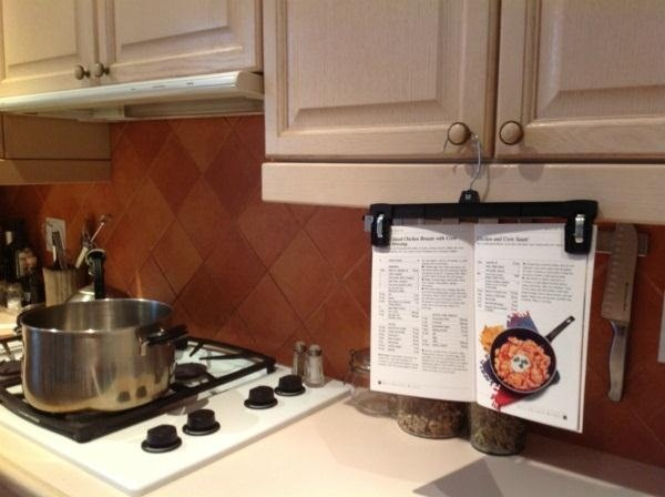 How to Keep Recipes Visible, but Clean & Out of the Way While You Cook