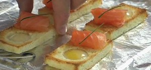 Cook Quail Egg & Smoked Salmon Toast
